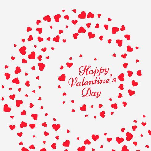 hearts swirl valentine background vector design illustration