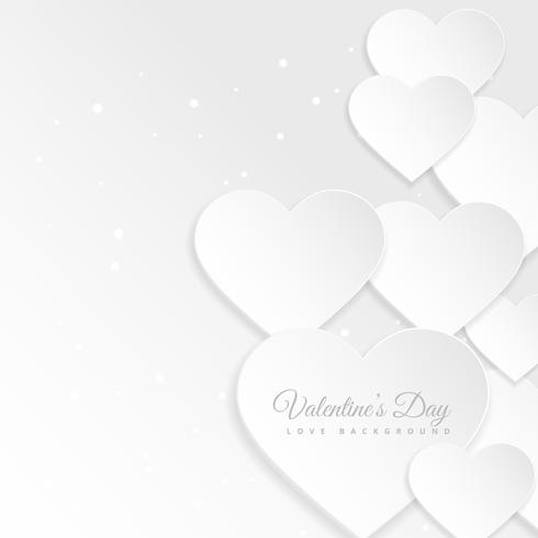 white paper hearts background vector design illustration