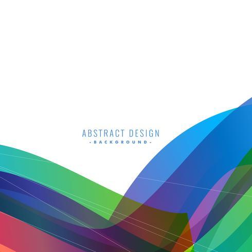 stylish colorful wave background design