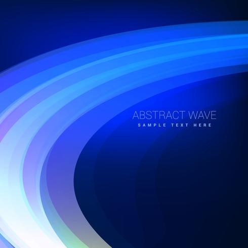 blue wave flowing background