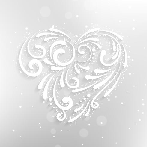 background with white heart vector design illustration