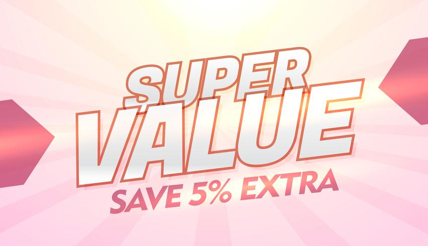 super value promotional discount and offer banner template