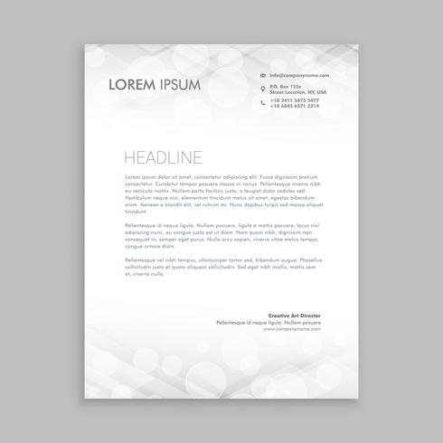 classic white letterhead  template vector design illustration