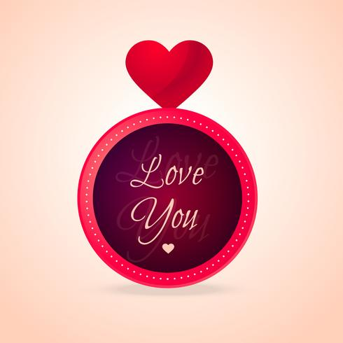 love you heart design vector design illustration