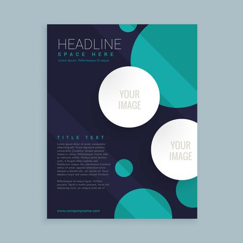 Flyer Brochure Template Design With Circles Download Free Vector