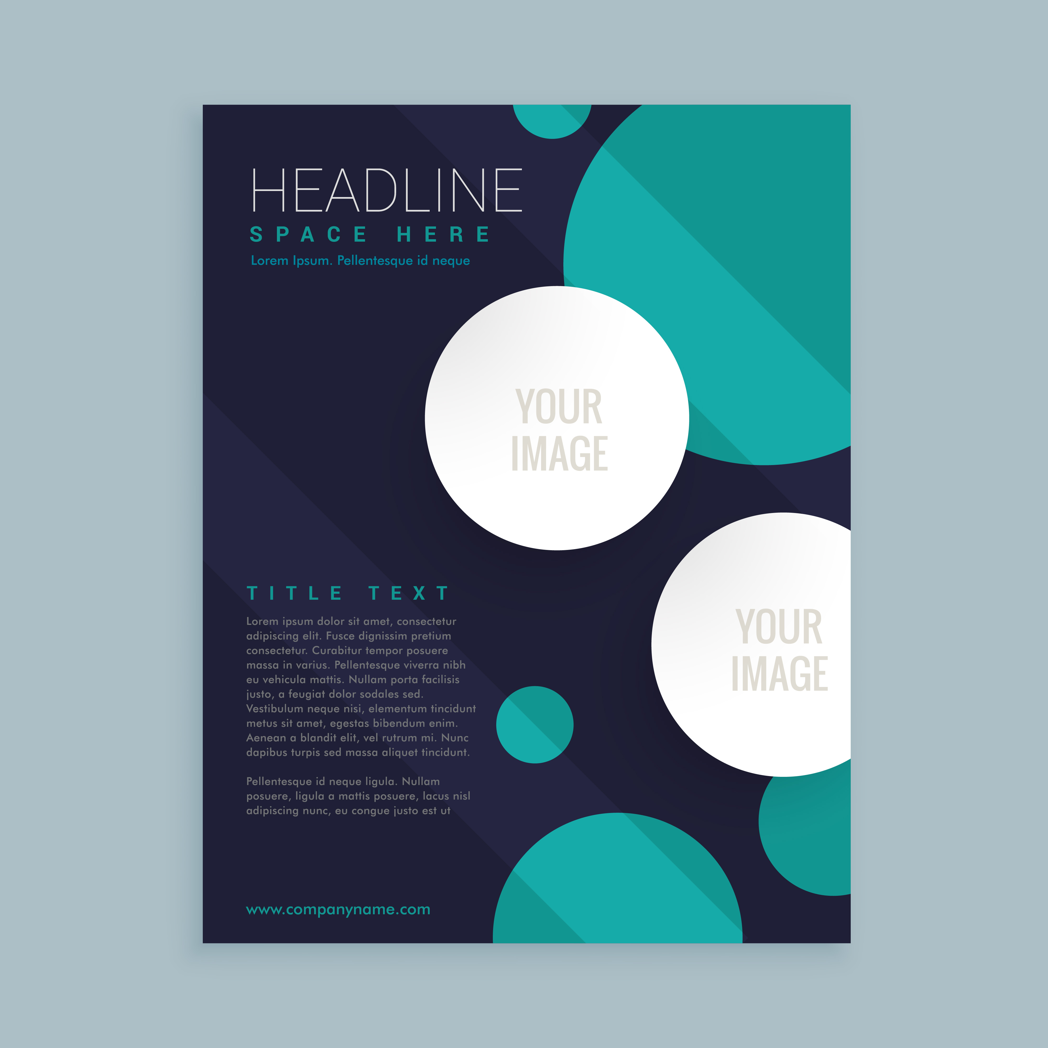 Template Designs: Flyer Brochure Template Design With Circles