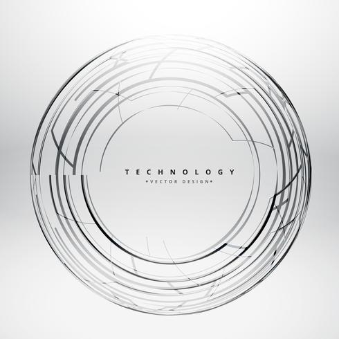 lignes sphère tchnologie fond vector design illustration