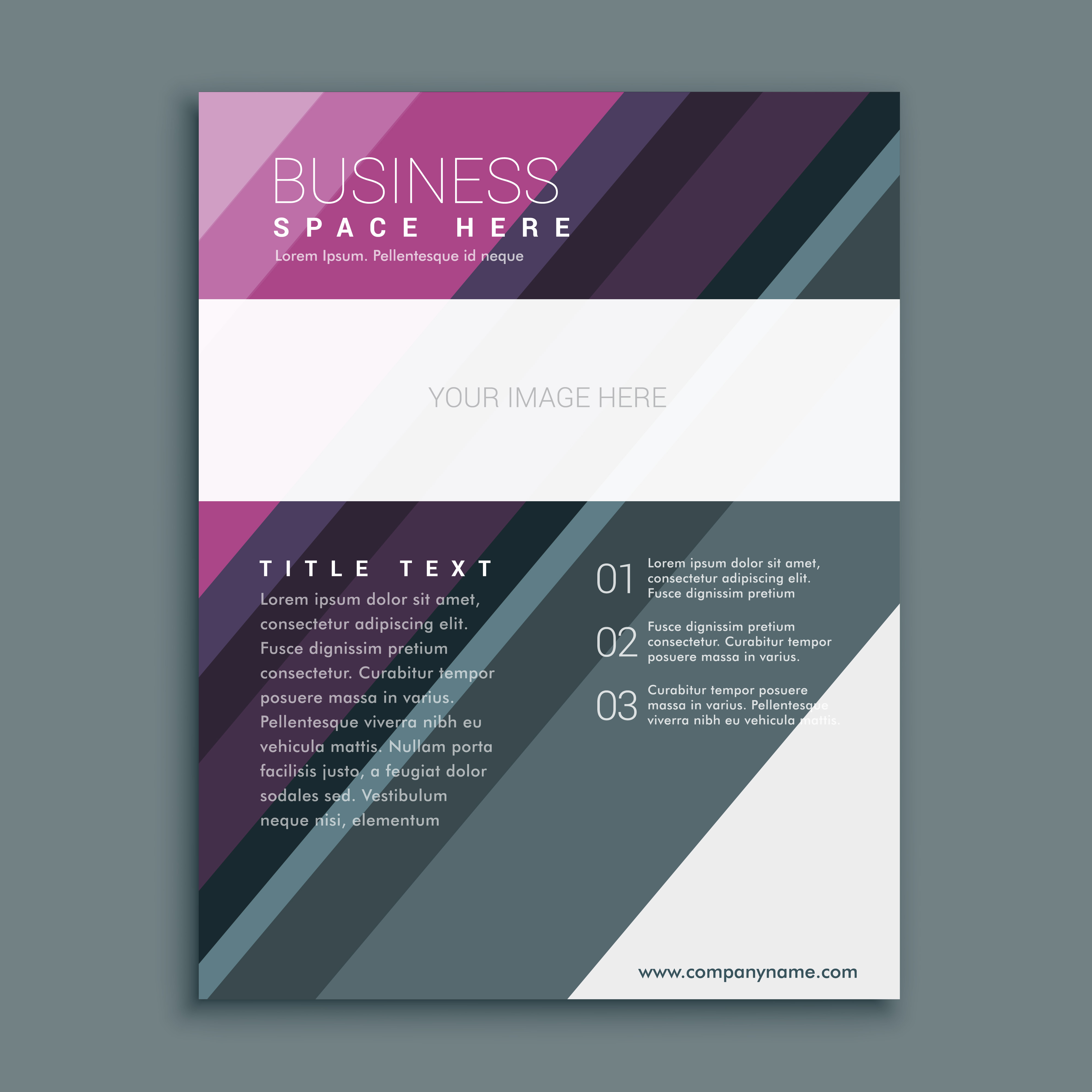 premium business brochure flyer design template in a4