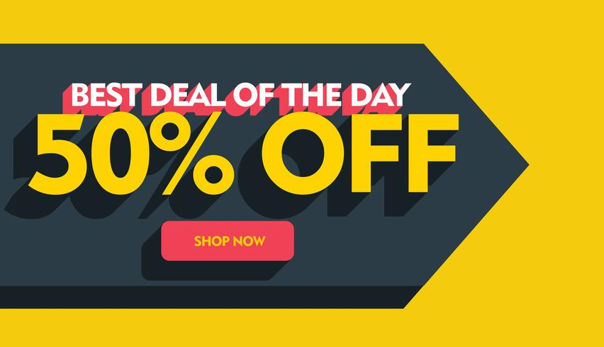 best deal of the day banner poster template design