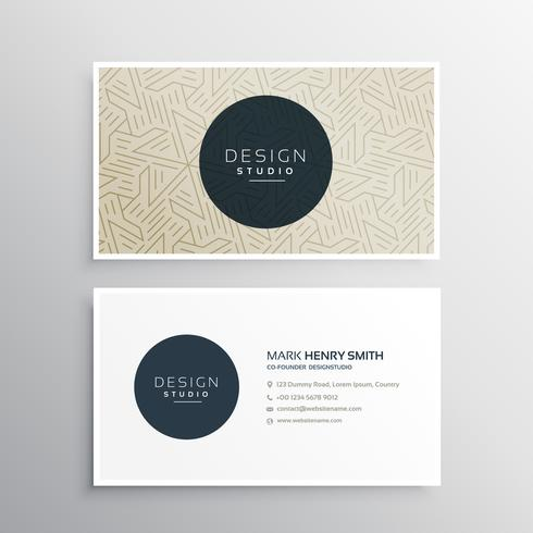 elegrant business company visiting card template with abstract g