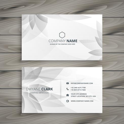 Beautiful gray white flower business card template vector design beautiful gray white flower business card template vector design cheaphphosting Gallery