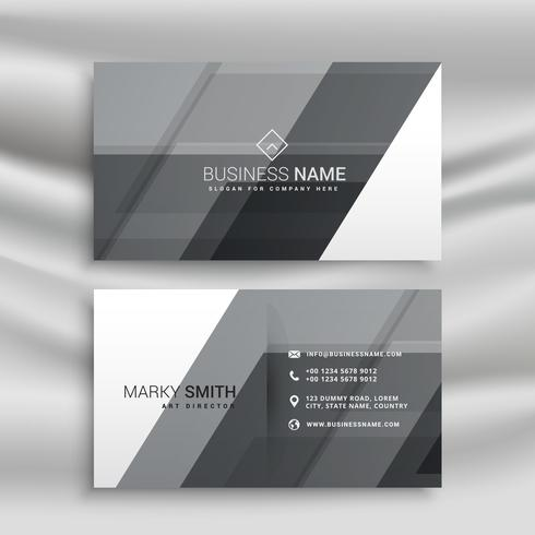 abstract gray business card design template