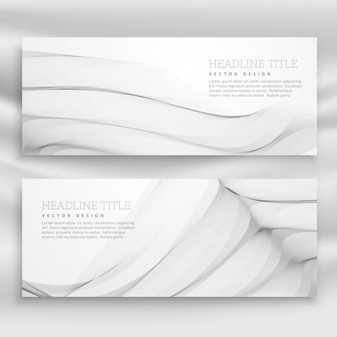 great wave banner template set in modern style