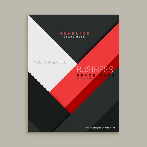 minimal red and black business company brochure leaflet template