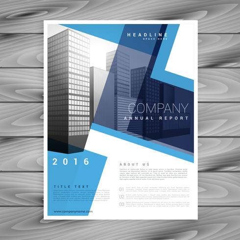 modern blue brochure flyer design template for your company
