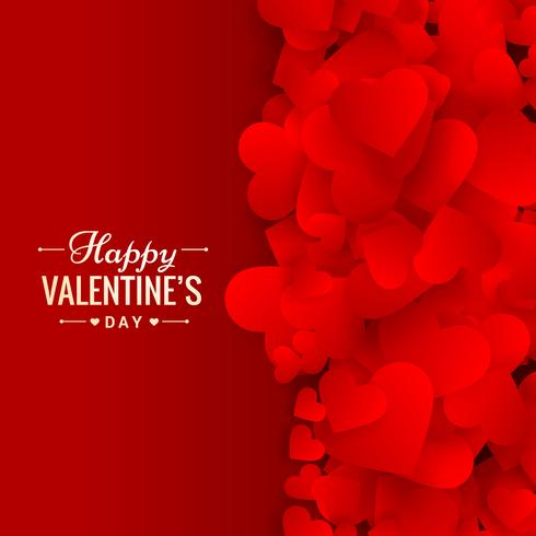 liefde harten rode achtergrond vectorillustratie ontwerp