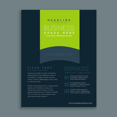 dark brochure design template vector design