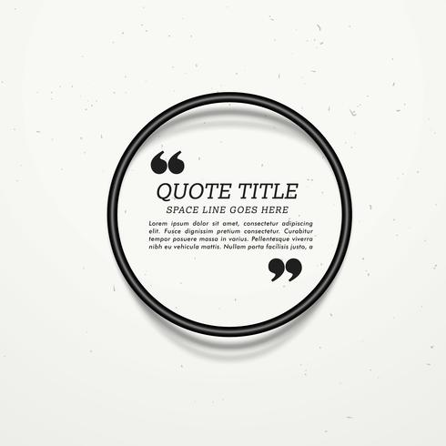 circular quotation frame with shadows