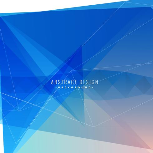 blue background with abstract shapes and lines