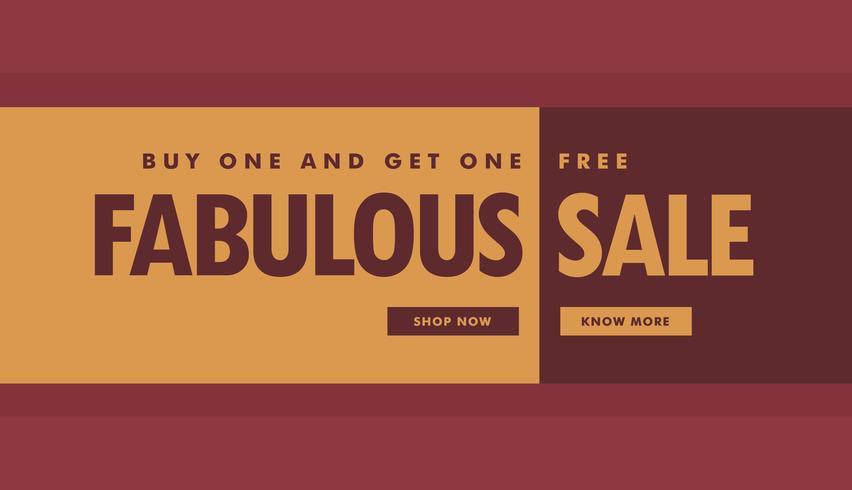 fabelhafte Verkauf Banner Plakatvorlage für die Förderung