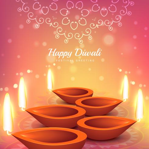 indian diwali festival greeting design vector background