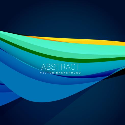 abstract blue wave background design illustration