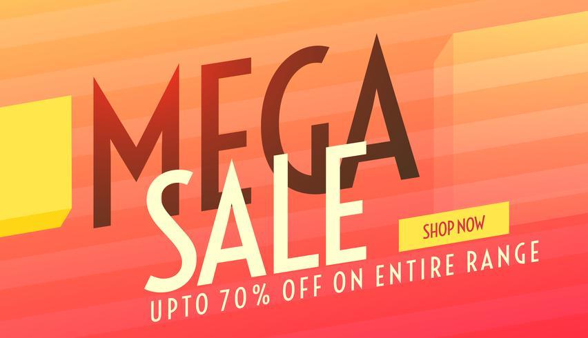 mega verkoop moderne reclame banner ontwerpsjabloon voor spandoek