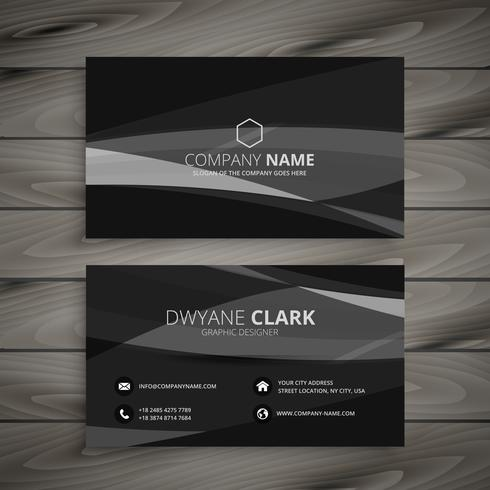 Dark black business card template vector design illustration dark black business card template vector design illustration accmission Gallery