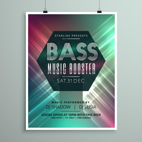 Stylish Music Party Event Flyer Brochure Template For Your Event - Event brochure template