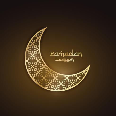 creative golden moon with abstract pattern ramadan festival desi