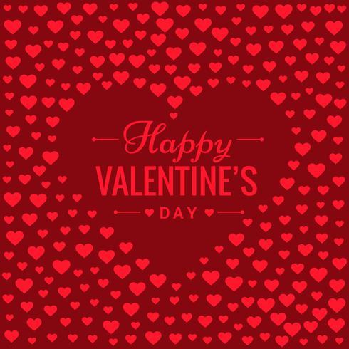 amour coeurs fond rouge illustration de conception vectorielle