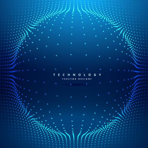 dots mesh forming sphere futuristic background vector design ill