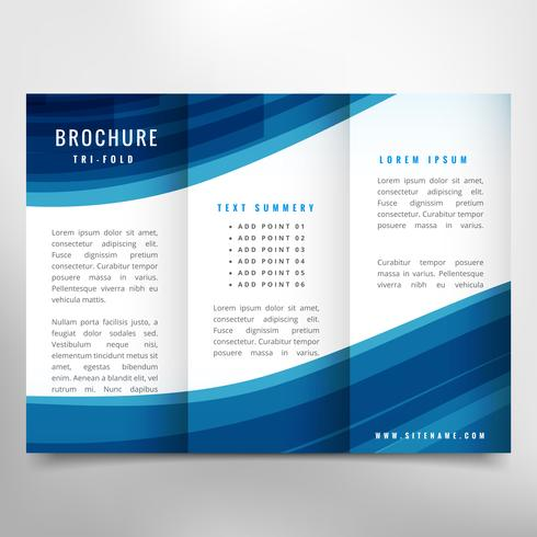stylish business trifold brochure