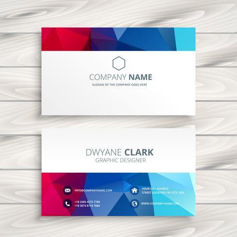 creative colorful business card template vector design illustrat
