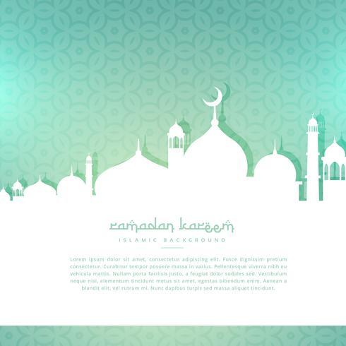 fundo de saudação ramadan kareem