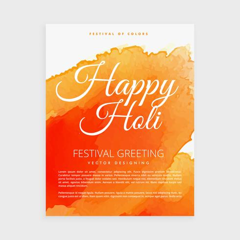 poster of indian holi festival