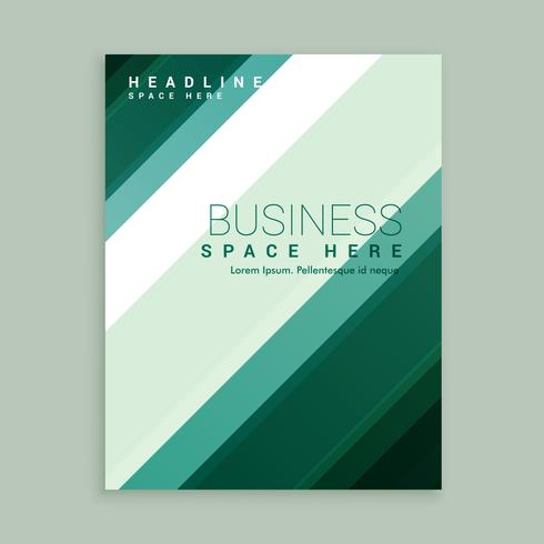 business brochure design with stripes shapes
