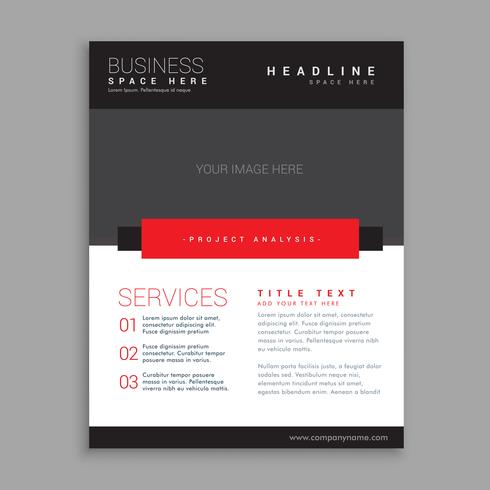 red and black business brochure design
