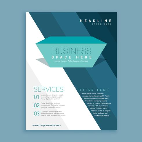 abstract business brochure design template with diagonal stripes