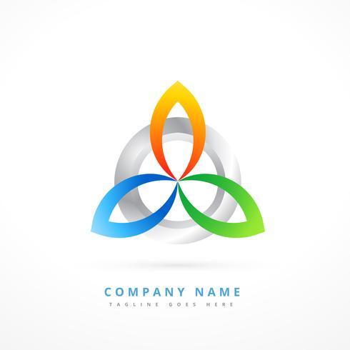 abstrakte Form Logo Design Illustration