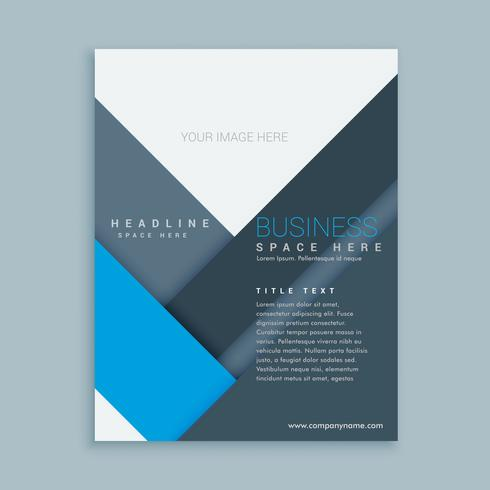 company brochure template in minimal shapes