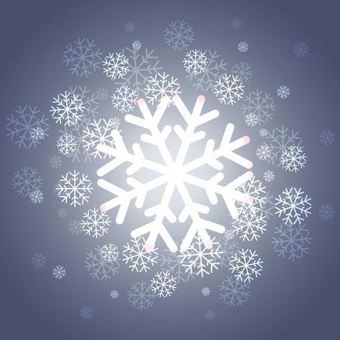 glänsande jul snöflingor