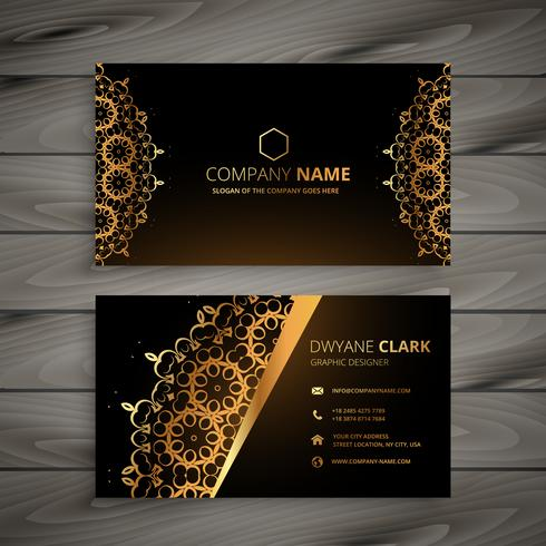Luxury golden ornament business card vector design illustration luxury golden ornament business card vector design illustration reheart Choice Image