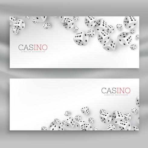 floating casino dice banners set