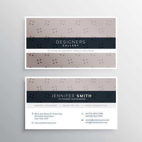 elegant dots pattern business card template
