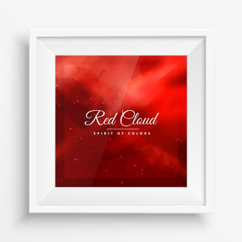 red cloud colors frame