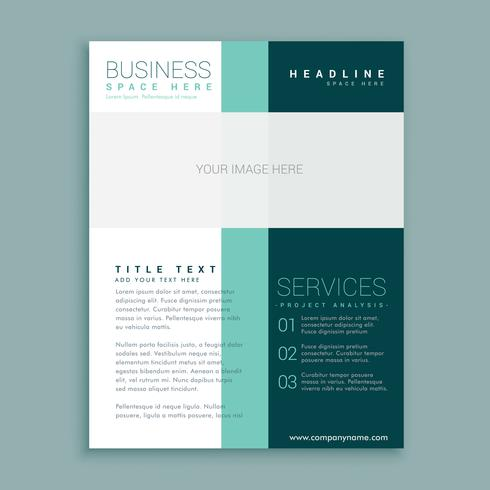 simple brochure design for your business download free vector art