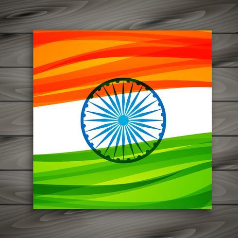 Indiase vlag kaartsjabloon vector ontwerp illustratie