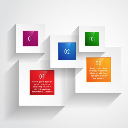 colorful infographic steps