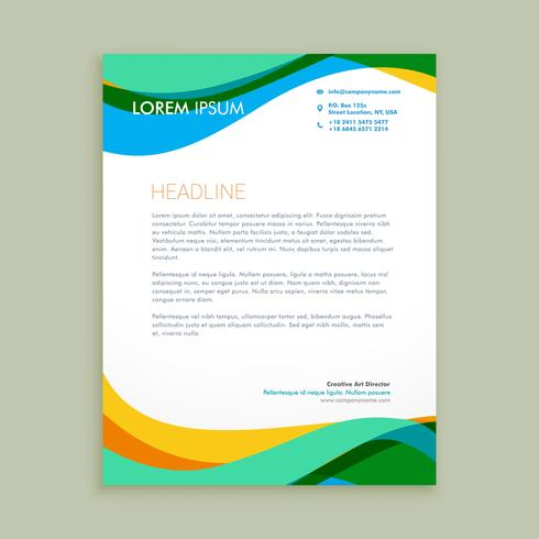 modern letter business template vector design illustration